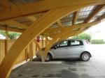 Дървен навес за автомобили