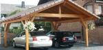 Поръчков навес от дървен материал за автомобили