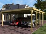 Проектиране и изработка на дървен навес за автомобил