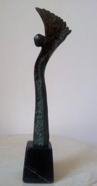 Бронзова авторска скулптура Жар