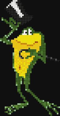 Мозайка за стена - Елегантна жаба